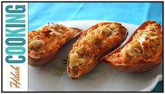 Twice Baked Sweet Potatoes- Easy Thanksgiving Recipe Video Perfect Baked Sweet Potato, Twice Baked Sweet Potatoes, Mashed Sweet Potatoes, Baked Potatoes, Crockpot, Baked Onions, Easy Thanksgiving Recipes, Holiday Recipes, Sandwiches
