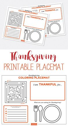 free printable placemat | thanksgiving printable placemat | thanksgiving tablescape | kids table | kids craft | kids thanksgiving craft | thanksgiving decor idea