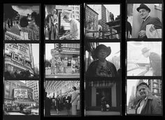 Vivian Maier Contact Sheet / Chicago. Note some of the portraits of people looking straight at her camera.