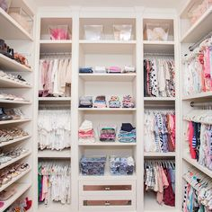 weet baby girls nursery closet design with Ikea curtains replacing closet doors Baby Girl Closet, Little Girl Closet, Kid Closet, Closet Bedroom, Closet Ideas, Baby Closets, Bathroom Closet, Girl Nursery, Girl Room