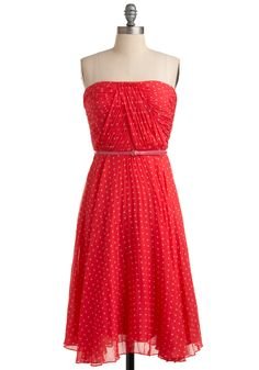 Linger a Little Longer Dress - so pretty!  I would love to own it! Ha ha, would be great for a valentines date, if I could afford it.  $164.99 #modcloth #dress #valentines