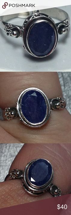 🔥nwt! Natural Tanzanite 2ct .925 Ring sz 8 + gift Nwt! SKILLED ARTiSAN HANDCRAFTED ~ Size 8 ~ GENUINE Tanzania Tanzanite GEMSTONE STERLING SILVER (.925 stamped) 2 ct fancy faceted oval solitaire with a scallop designs in silversmithing totally around the solitaire station + on both shoulders If you love exotic hard to find  or love to wear deep pigmented violet blue this is a ring made especially with you in mind! I only have this one! 💜💜💜💜💙🎈🎈🎈🎈💚💚💕💕😍 this ting comes with FREE…