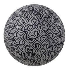 Yoga Ball Cover, Size 65 Black Swirl