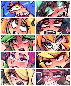 Ahegao, Anime Henti, Anime Comics, All Anime, Anime Art, Skullgirls, Character Illustration, Pictures To Draw, Video Game Art