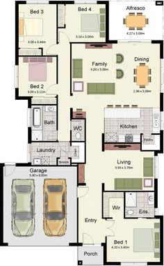 Hotondo Homes' Somerset 233 is also available in the smaller 215 size. House Layout Plans, Floor Plan Layout, New House Plans, Dream House Plans, Modern House Plans, House Floor Plans, House Floor Design, Sims House Design, Home Design Floor Plans