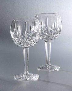 """Shop """"Lismore"""" Crystal Wine Glass from Waterford Crystal at Horchow, where you'll find new lower shipping on hundreds of home furnishings and gifts. Waterford Lismore, Waterford Crystal, Waterford Glasses, Waterford Ireland, Vases, Crystal Glassware, Crystal Wine Glasses, Crystal Meanings, Cut Glass"""