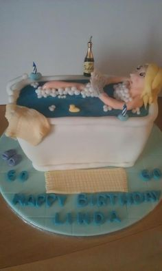 Bath cake.  60th Birthday cake