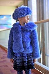 Biscotti Periwinkle Faux Fur Coat