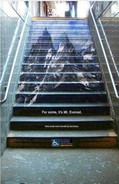 American Disability Association | Subway Ads | Guerilla Marketing
