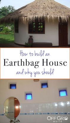 Earthbag house construction is an amazingly sustainable building method and has been a popular topic for years in the off grid community. #earthbag #earthbaghouse #earthbaghome #sustainable #offgrid Hut House, Dome House, House Floor, Off Grid Communities, Earth Bag Homes, Off Grid House, Tiny House Company, Natural Homes, Natural Building