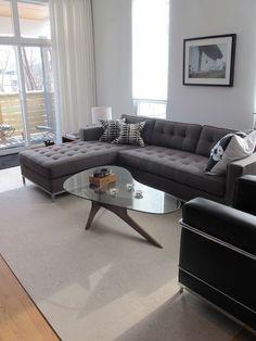 Love tufting on modern sofas.