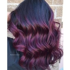 Loving the deep purple colors you're seeing all over your feeds this season? Here's another one to inspire you, by colorist Justine Landfried ( of Trinity Salon in Fitchburg, Mass. Here's her color formula for this gorgeous hue! Vivid Hair Color, Hair Color Purple, Brown Hair Colors, Purple Colors, Deep Purple, Deep Violet Hair, Balayage Hair Purple, Balayage Hair Blonde Medium, Plum Hair