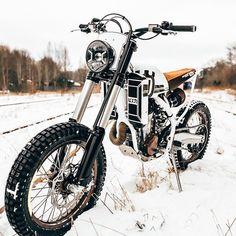 Ice Dream: The @loonics BS 501 based on a Husqvarna FE 501. On BikeBound.com! :: #husqvarna #husqvarna501 #fe501 #enduro #supermoto #scrambler #tracker #streettracker #dualsport #dirtbike #custombike #builtnotbought