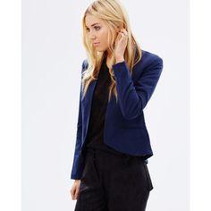 Vero Moda Jana Majay Blazer (70 AUD) ❤ liked on Polyvore featuring outerwear, jackets, blazers, vero moda, open front jacket, tall jackets, open front blazer and vero moda jacket