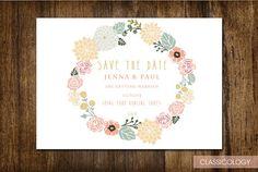 Woodblock print floral