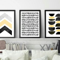 Color co-ordinate your space with this minimalist set of 3 instant downloads. Affordable, modern art.