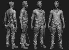 "the Walking Dead ""Glenn"" Zbrush sculpt for McFarlane toys by Majid Esmaeili […"