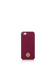ROBINSON PEBBLED HARDSHELL CASE FOR IPHONE 5 - cabernet