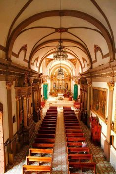 Jiquilpan Michoacan Pueblo Magico. Iglesia San Francisco.
