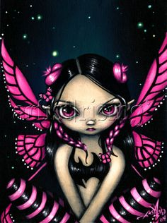 Pink Butterfly Fairy Painting at ArtistRising.com