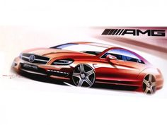 Mercedes-Benz CLS 63 AMG Design Sketch http://www.carbodydesign.com/design-sketch-board/page/60/?sort=recent