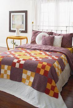 Vintage Look, Nine Patch Crochet Afghan: free pattern