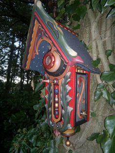 hand painted bird house by karelsdingen on Etsy