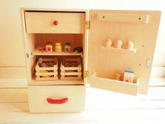 木のおもちゃままごとキッチンおままごとキッチンおままごと冷蔵庫本体のみ