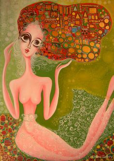 Reine red – pictura pe panza #art #Painting #creative
