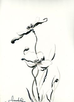Original Drawing Black and White Ink Brush Pen by CanotStop