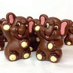 ELEFANTITOS DE CHOCOLATE #FigurasDeChocolate #AnimalesDeChocolate #ChocolateBelga #DeSchutter