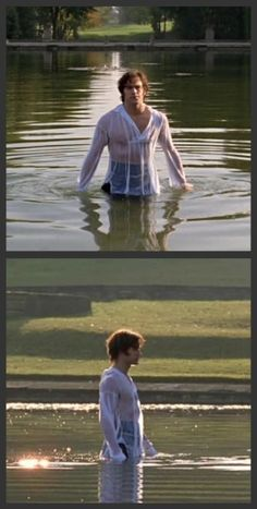 "Mr. Darcy in his pond in ""Lost in Austen""...the boy crazy and historical romances side of me about had a conniption during this scene...sooo much hottness!! *shudders*"