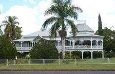 An old Queenslander home - up high to catch the breezes, verandahs to keep the house cool- just right for the tropics.