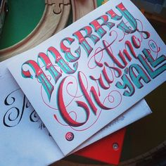 Lettering. Calligraphy. Chris Rushing. Friends of Type.