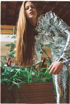 metallic fashion editorial