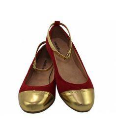 Sapatilha Vermelha Cap Toe com Tira Dourada SAPATILHA SHOP (Ref: 2626) + frete grátis http://www.sapatilhashop.com.br/sapatilha-sapatilha-shop-402.html