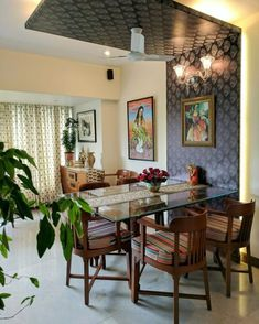 My Parents' Living Room Reveal - Indian living rooms - internationally inspired India Home Decor, Ethnic Home Decor, Living Room Decor India, Indian Living Rooms, Colourful Living Room, Indian Home Interior, Room Interior, Brick Interior, Interior Ideas