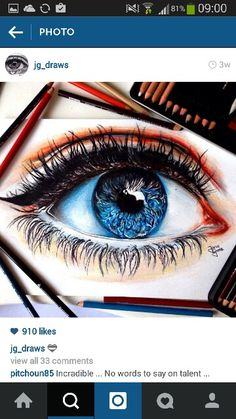 Such a detailed eye check her out on instagram JG_DRAWS