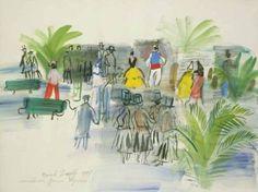 Raoul Dufy - Perpignan - 1947 - Aquarelle