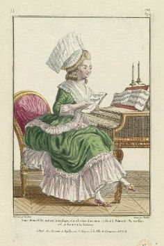 Historic Ladies in Fashion- fashion plates from the and early centuries. Rococo Fashion, French Fashion, Vintage Fashion, Costume Français, Costumes, Pierre Thomas, Theatrical Scenery, Paper Puppets, Time Pictures