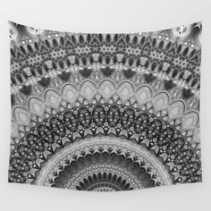 Black and White Mandala design Wall Tapestry by Haroulita - $39.00