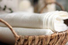 simple linen bath towel