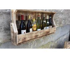 Vinreol, Super flot vinreol med et rustikt look. Vinholder. Vinreol i træ. Wine holder wood. Vinholder. Træhåndværk.