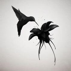 Resultado de imagen para colibri tattoo black