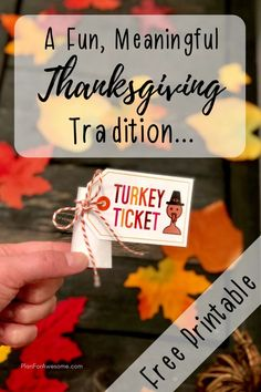 A Fun & Simple Thanksgiving Tradition with Free Printables