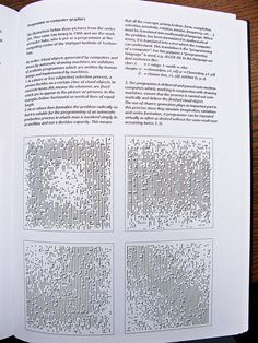 """""""Designing Programmes"""", classic book on form as programme by the Swiss designer Karl Gerstner.    Page 21: Programme as computer graphics    The illustrations below show pictures from the series 201. They came into being in 1966 and are the work of Fried learn the power of [graphic designs, computer graphics, 3d  graphics, wedding graphics, animated  graphics, stock graphics, graphic designer,  cool graphics, computer graphic design,  graphic artist]"""