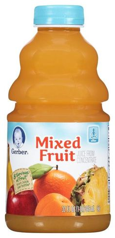 Gerber Juice - Mixed Fruit - 32 fl oz - Free Shipping 6 bottles in a pack 6x2=12 32oz bottles