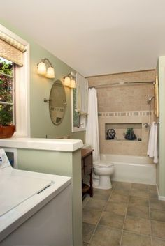Small Bathroom Ideas Laundry combine bathroom/laundry for extra space? | dream home | pinterest