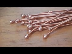 Making Balled Headpins - YouTube