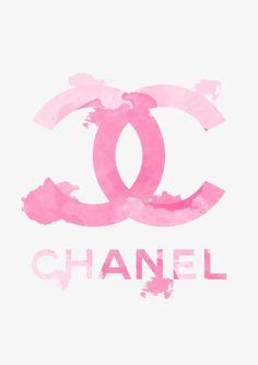 "Chanel Logo, Fashion illustration and watercolor art print, titled ""Pink Chanel""… Moda Wallpaper, Iphone Wallpaper, Iphone Backgrounds, Chanel Wallpapers, Cute Wallpapers, Coco Chanel Wallpaper, Fashion Wall Art, Fashion Prints, Chanel Decor"
